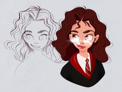 Hermione Character | Illustration bulgaria character design product illustration book illustration granger hermione hermione granger harrypotter harry potter girl character character girl illustration