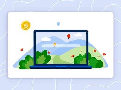 Eco Technology Icon | Illustration illustration bulgaria logo vector tech device technology computer laptop email eco ecology illustrator landscape baloons nature