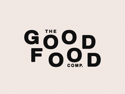 The Good Food Company | Logo Exploration logotype online store good food goodtype lettering bulgaria grocery grocery online grocery store logo