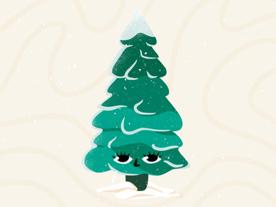 Cute Christmas Tree | Illustration christmas tree illustration character christmas tree