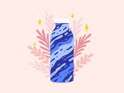 Naked Water Bottle | Illustration Pro-Bono water bottle plastic plastic free think green less plastic no plastic save water zero waste low waste voluntary volunteer cause charity pro-bono probono fluid illustration bottle water