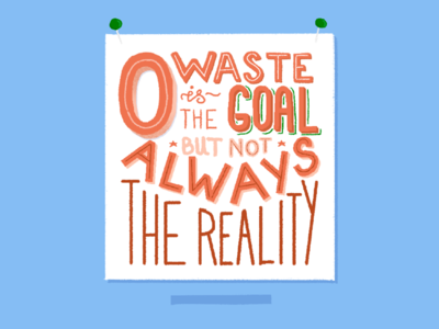 Zero Waste Living | Lettering