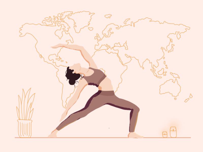 Yo gal Nice 2 | Illustration warrior yoga world ui illustration ui procreate lineart illustration girl fresco devotion bulgaria adobefresco