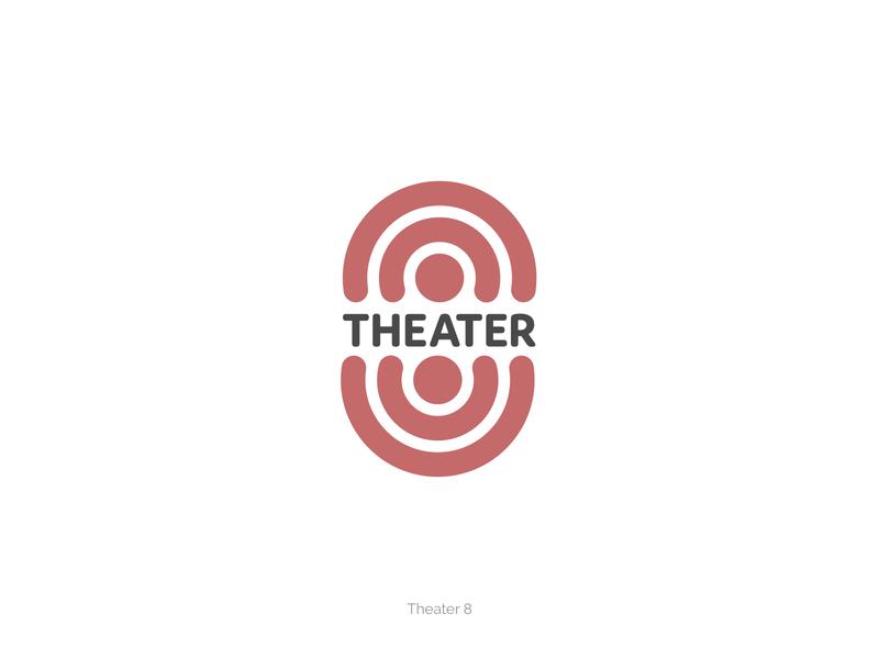 Theater 8 branding minimal circle round website illustration flat simple logo design 8 eight theatre theater identity mark vector visual identity ui design branding logo brand