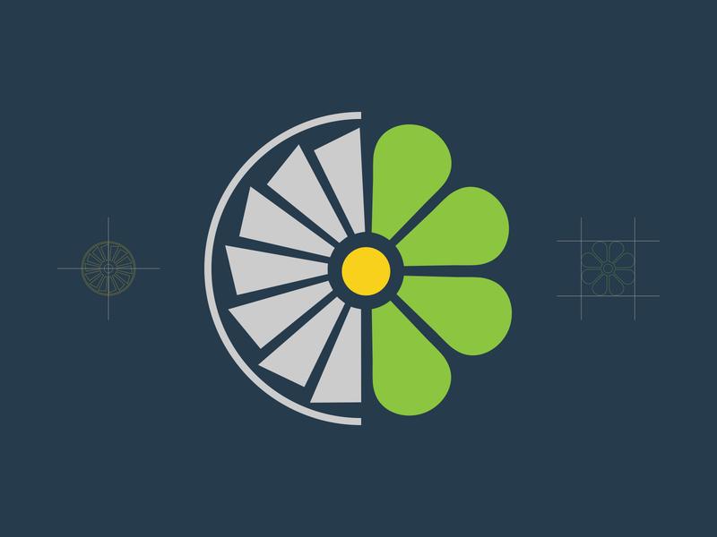 Aero Next Life - Logo Design icon symbol mark idenity leave green reuse recycle aero engine propeller flower graphic designer branding logo design logo