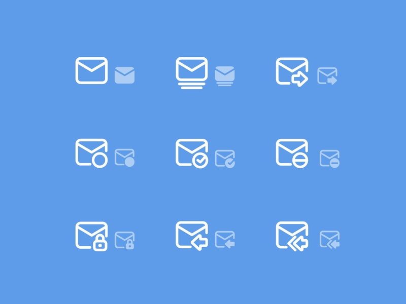 Mail Icon Set iconography clean interface icons email client mobile app design outline stroke pictogram set pictogram symbol app vector ux ui mobile branding mail icon mail email set icon