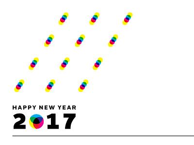 Happy New Year - 2017 vector typography 2017 poster type minimal cmyk happy new year