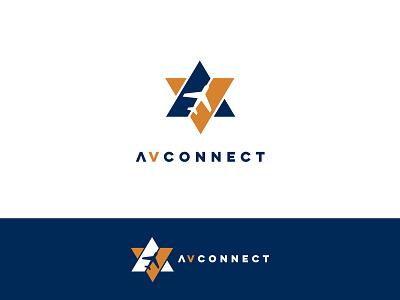 Av Connect Concept airport connect monogram star runway airplane plane av aviation