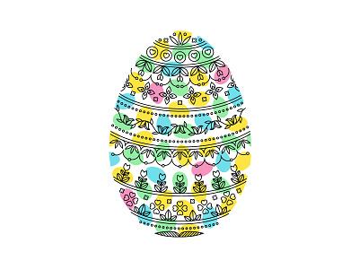 Easter Egg faberge floral fun colour colourful line art detail illustration egg easter