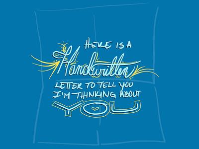 Handwritten Letter daissydesigns illustration lettering procreateapp ecard digital art