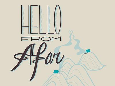 Hello ecard lettering illustration procreateapp digital art daissydesigns