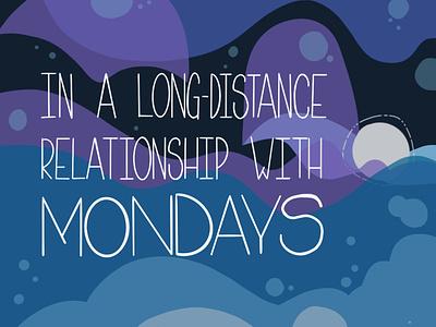 Long-distance Relationship lettering illustration ecard procreateapp digital art daissydesigns