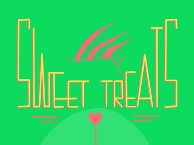 Sweet Treats digital art ecard procreateapp lettering illustration daissydesigns