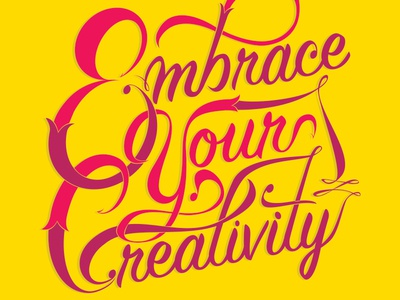 Embrace Your Creativity - Lettering (1 of 3)