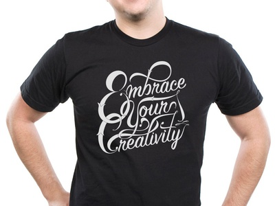 Embrace Your Creativity - Lettering (3 of 3) renderedthreads vector type lettering