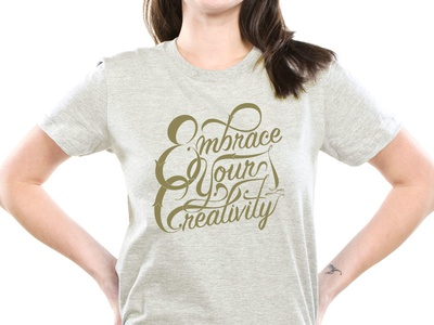 Embrace Your Creativity - Lettering (2 of 3) renderedthreads vector type lettering