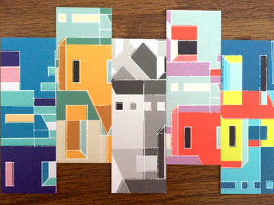 Mi Casa Es Su Casa Cards pattern house geometric illustration renderedthreads abstract