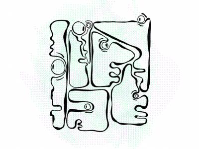 Fittin' Illustration renderedthreads illustration faces