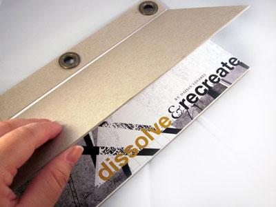 Dissolve & Recreate renderedthreads book binding layout design