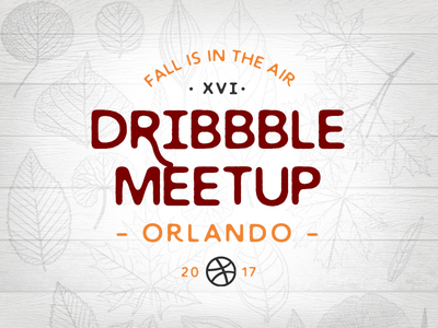 Dribbble Orlando Meetup Nov 2017