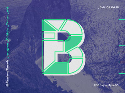 B is for Bali type travel renderedthreads letters bali b 36daysoftype