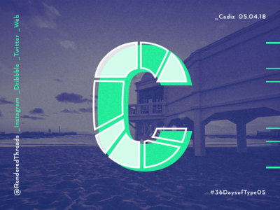 C is for Cadiz type travel renderedthreads letters cadiz c 36daysoftype