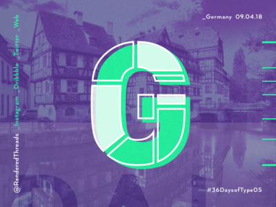 G is for Germany type travel renderedthreads letters germany g 36daysoftype