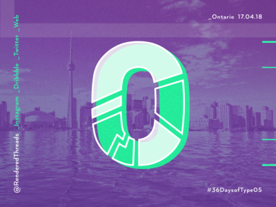 O is for Ontario type travel renderedthreads letters ontario o 36daysoftype