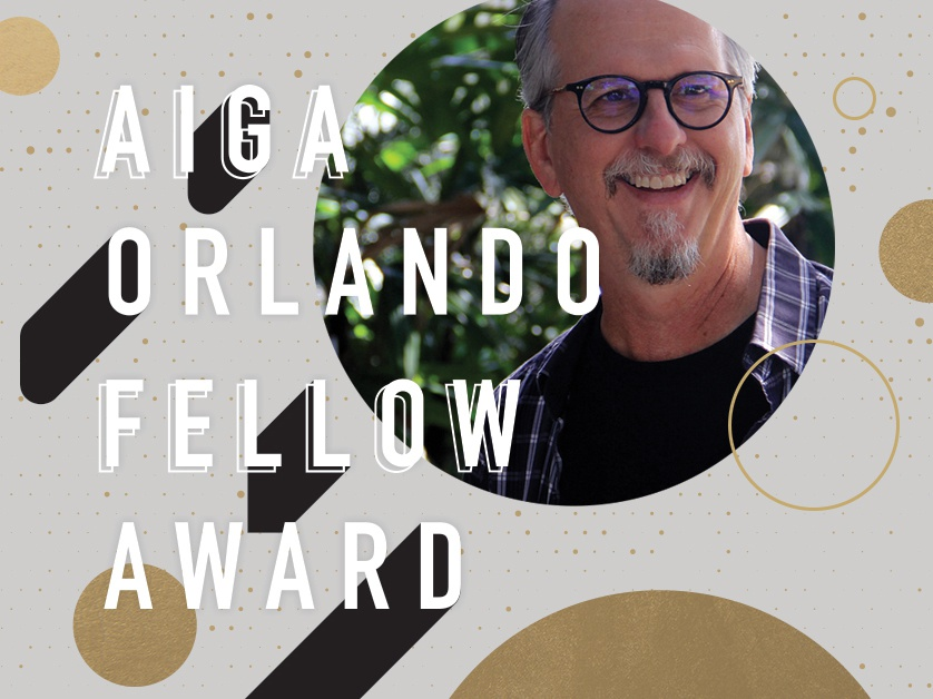 AIGA Orlando Fellow Celebration - Nov 2018 typography type gold orlando design aiga