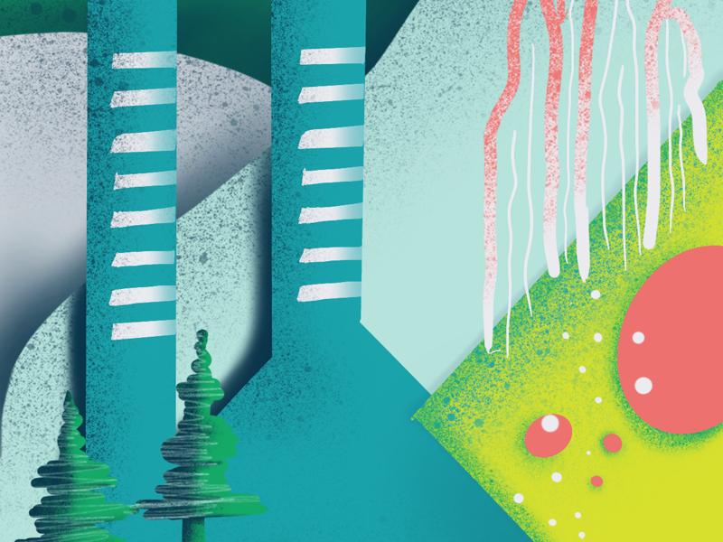 001 / Submerged Cities wallpaper iphonexs illustration procreateapp daissydesigns 100daysproject