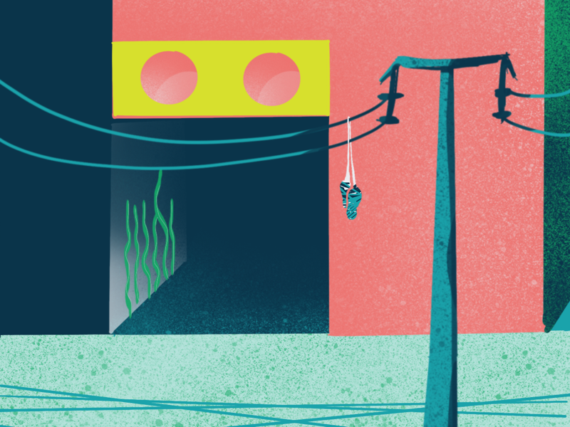 002 / Submerged Cities wallpaper procreateapp iphonexs illustration 100daysproject daissydesigns