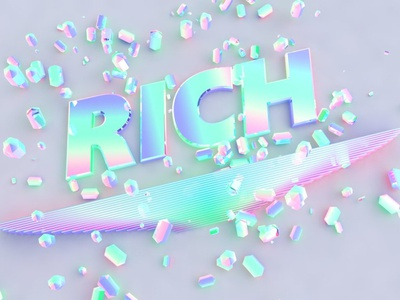 RICH design 3d art c4d 3d cinema 4d