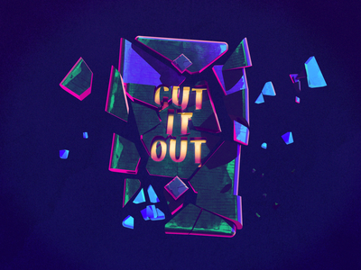 Cut It Out illustration 3d art c4d 3d cinema 4d