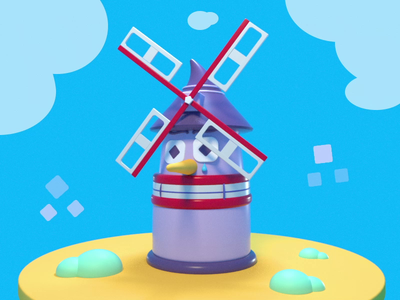 Help I'm A Windmill adventure character octane design 3d art c4d 3d cinema 4d