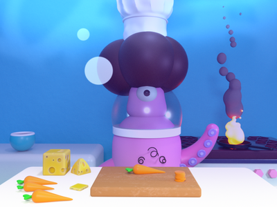 Kitchn character octane design 3d art c4d 3d cinema 4d
