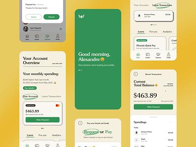 Mobile Banking App mobile app uiux ux ux ui design ui design interface mobile app ui clean minimal design typography