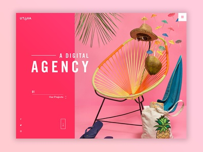 Agency Comp 2.2 website web design ux ui typography type minimal layout homepage design clean