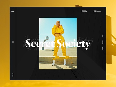 Cure Mag magazine editorial web design grid typography type minimal layout design clean