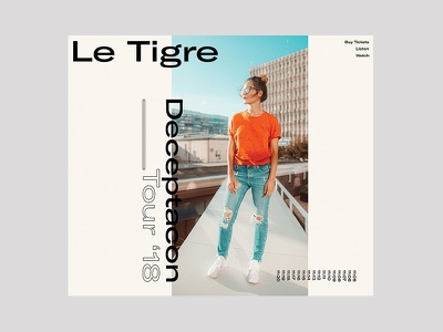 Le Tigre web design grid typography type minimal layout design ui ux clean
