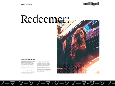 Redeemer editorial ux ui typography type minimal layout grid design clean