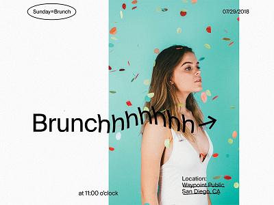 Sunday = Brunch editorial typography type minimal layout grid design clean