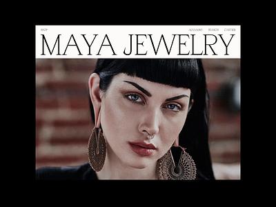 Maya Jewelry editorial ecommerce grid ux ui clean minimal design layout typography