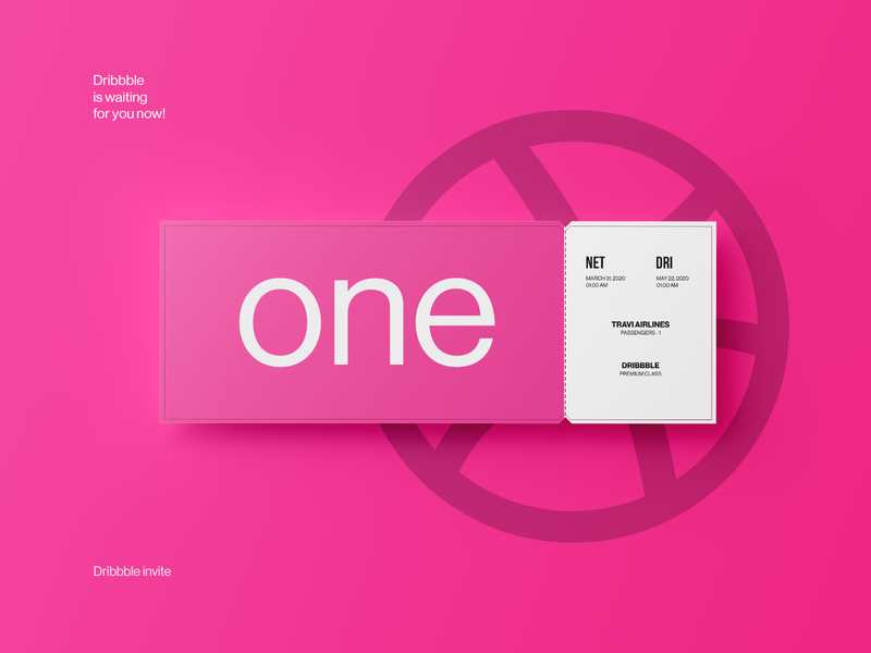 Dribbble invite, one invitation!
