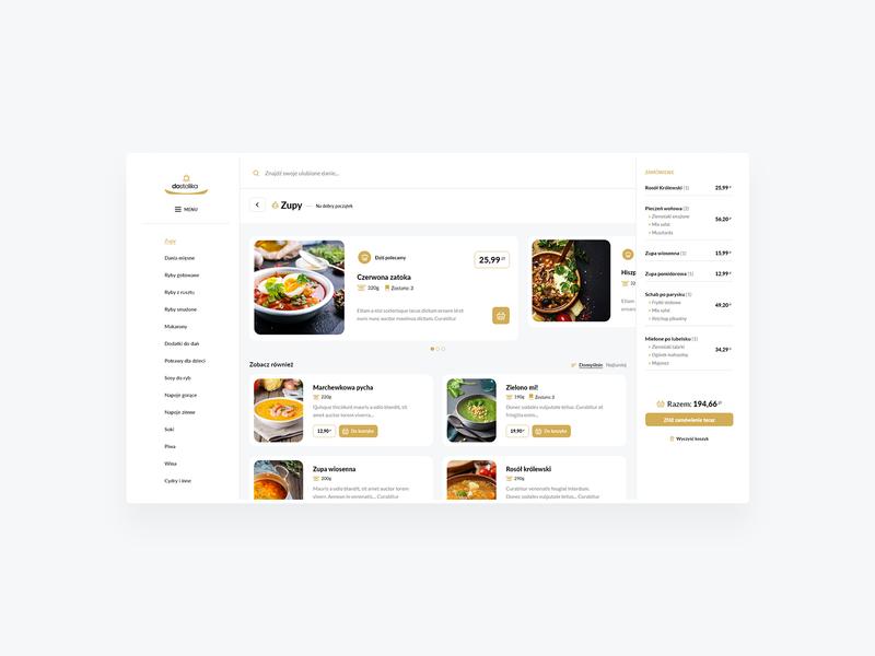 Restaurant app design - PWA