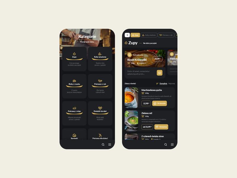 Restaurant mobile app - PWA (darkmode)