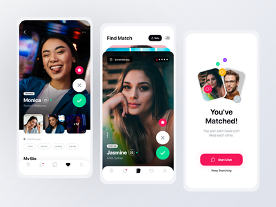 Dating App - Mobile UI/UX design mobile datingapp partner match find love android ios couple relationship love hinge bumble tinder agency app design ux ui dating app dating