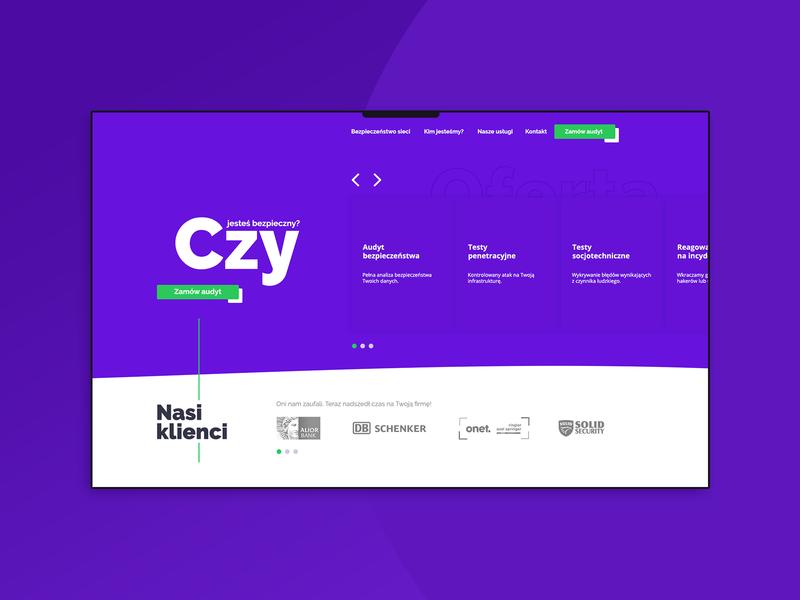 Technology company website - homepage.