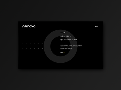 Nanotechnology Website website concept layout design technology corporate minimal front page landing page webdesign modern branding homepage banner web minimalistic dark black ui ux layout website