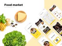 Food market app,  iOS UI/UX design.