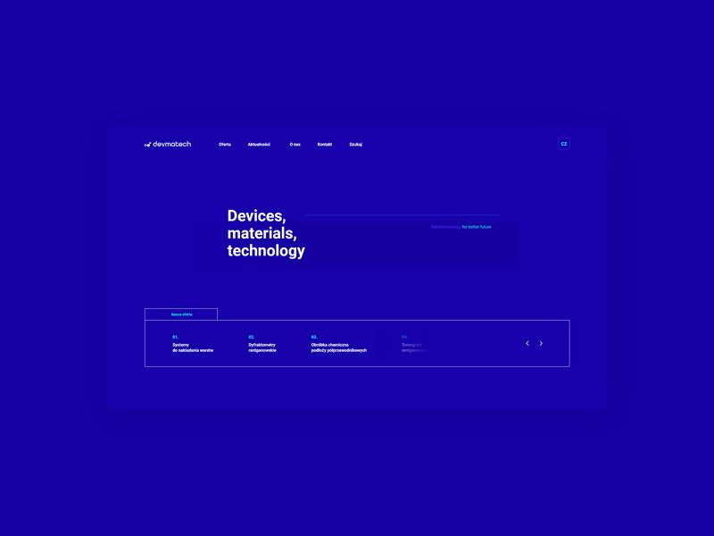 Nanotechnology website - homepage.